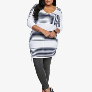 Torrid Plus Size Striped Tunic Pullover